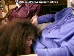 Sexy milf fucked by dad and son