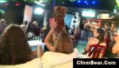 Cfnm strippers strip for screaming cfnm babes