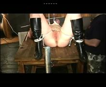 Hard pussy and tit torture