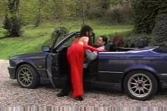 Sex in a bmw cabrio car hood