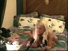 Kinky housewife stuffs it all