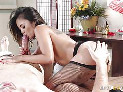 handjob, massage, interracial, blowjob, lingerie, masturbating, masseuse, asian babe, dirty masseur, brazzers network, kaylani lei, keiran lee