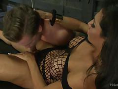 shemale, slave, domination, fishnet, dungeon, anal sex, tranny big boobs, tranny blowjob, ts seduction, kink, lucas knight, jaquelin braxton