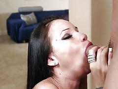 facial, babe, deepthroat, cumshot, blowjob, dark hair, 1000 facials, myxxxpass, raven bay, will powers