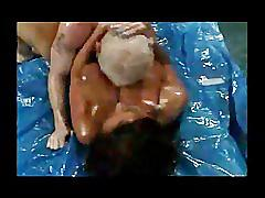 Busty booty wrestling mature donita dunes