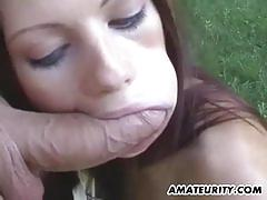 Very hot amateur girlfriend suck and fuck action.