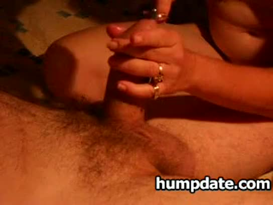Wife gives hubby hot handjob with sounding
