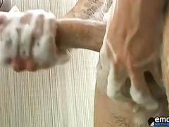 Hung boy rad enjoys his dick jerk here in solo.