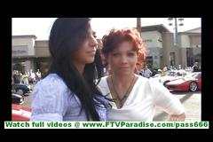 Rita and madeline amateur lesbian couple walking and...