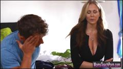 Stepmom julia ann fucks her stepson and gf