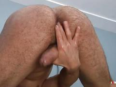 Nico diaz oils and wanks his hard dick