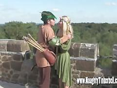 Poor maid tinkerbell gets ass and pussy ruined in the woods by knobinhood