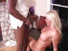Housewife's anal with black man