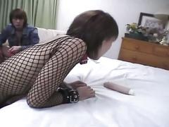 Two youngsters touch and rub the girl's pussy