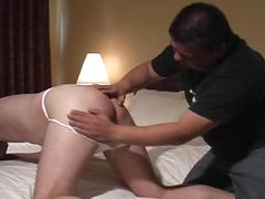 Horny daddy master torturing hot slave with so much pleasure