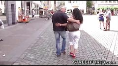 Porn casting on streets of germany to fuck