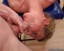 Mature slut enjoys hardcore group sex