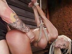 Blonde milf is fucked in the dungeon