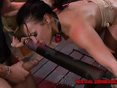 bdsm, babe, rough sex, domination, blowjob, tied up, ball gagged, sexual disgrace, fetish network, becca diamond