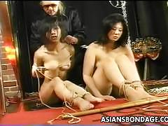 Japanese slaves getting strapped and exploited