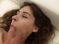Rocco siffredi pounds his massive dick into innocent brunette