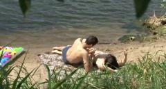 Hardcore amateur sex on the beach