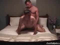 Naughty amateur dude gets his butt hole fucked raw