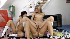 big cock, blowjob, threesome, amateur, anal, blonde, cumshot, fuck, hardcore, close up, fingering