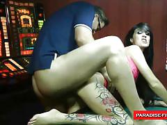 Paradise films german brunette slut fucked for nice game.