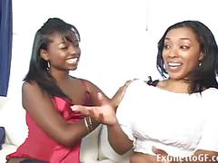 Two black lesbian hoodrats having sex