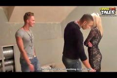 Blond teen in gang bang action pt 1