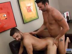 Dominic opens for mike's cock