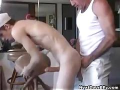 Daddy gives young marine hardcore fuck