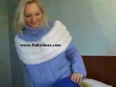 Blonde loves her cuddly pullovers  free masturbation