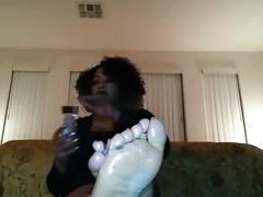 black and ebony, femdom, foot fetish, pov