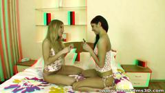 Porn film 3d - lesbian girlfriends dildoing in bed