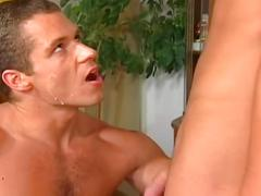 Lewd muscled gay studs hardcore ass stuffing orgy fucking fun