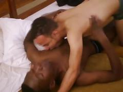 Sweet arab twink sucks black cock of african twink