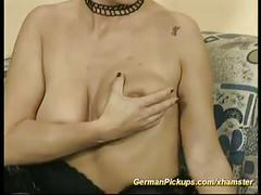 Pickup german milf for anal fuck