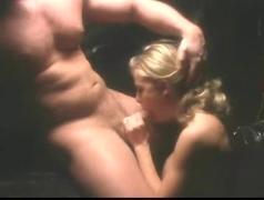 Busty blond chick rides a cock