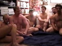 Horny guys in awesome fuck fest