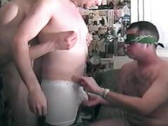 Amateur gay fuckers sizzling hot threesome anal and mouth wrecking