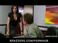 Hot big-tit slutty pornstars fuck their boss' dick in office orgy
