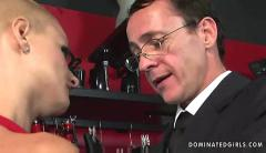 Submissive bondage shopgirl whore manacled spanking and bdsm fucking