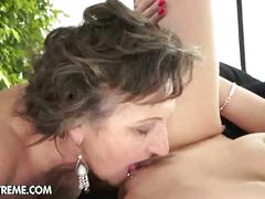 Old lesbian licks and gets licked