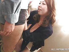 Mature japanese entertains her partner