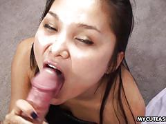 Lovely asian gives me a sexy blowjob