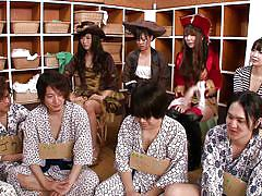 handjob, party, japanese, cosplay, bathing, japanese group, eating, cock ride, cosplay in japan, erito