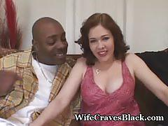 Horny wife fucks black for hubby