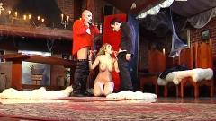 Two vampires enjoy hot girl